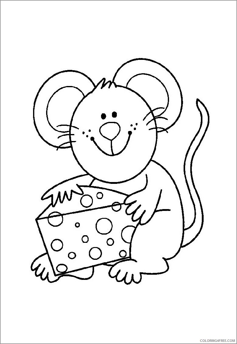 Mouse Coloring Pages Animal Printable Sheets cartoon mouse 2021 3403 Coloring4free