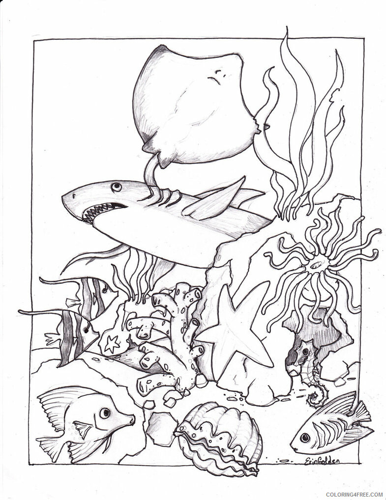 Ocean Animals Coloring Pages Animal Printable Sheets Ocean Creatures 2021 3480 Coloring4free