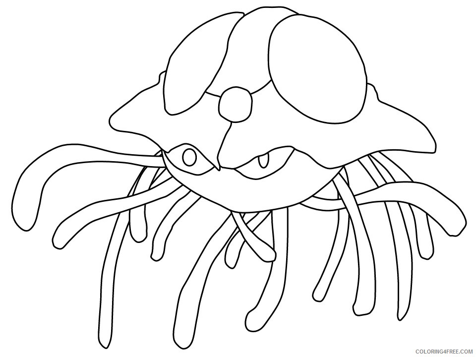 Ocean Animals Coloring Pages Animal Printable Sheets jellyfish3 2021 3466 Coloring4free