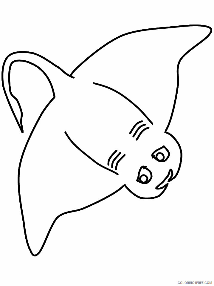 Ocean Animals Coloring Pages Animal Printable Sheets ray 2021 3485 Coloring4free