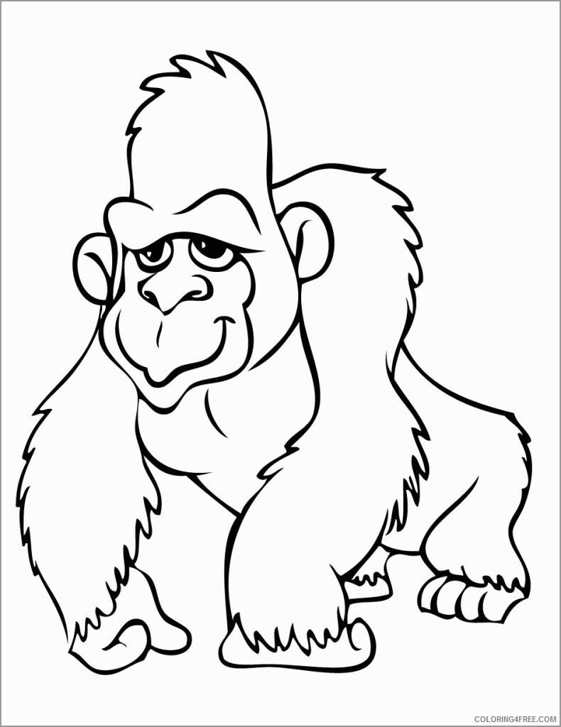 Orangutan Coloring Pages Animal Printable Sheets cute orangutan 2021 3540 Coloring4free