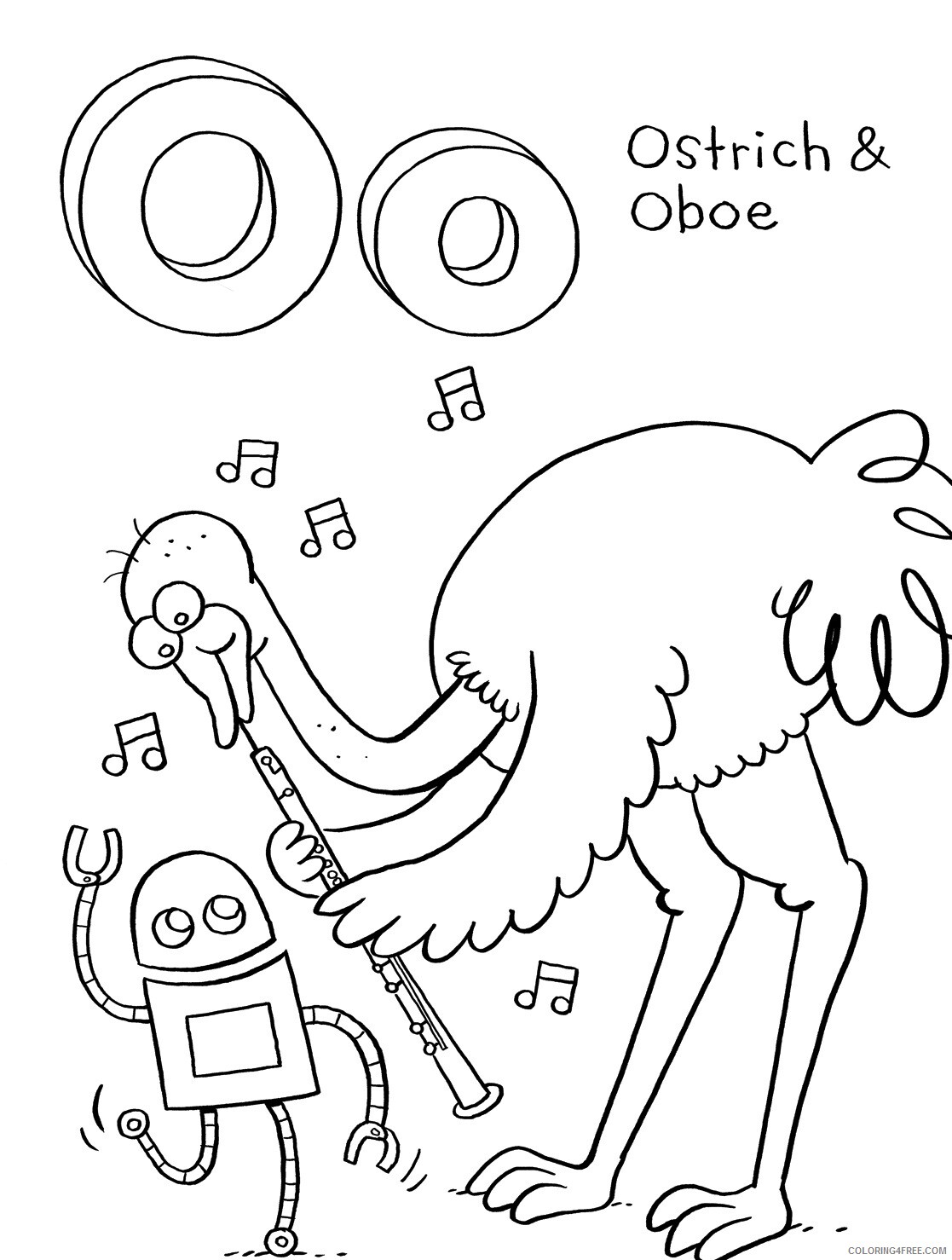Ostrich Coloring Pages Animal Printable Sheets Ostrich Photos 2021 3571 Coloring4free