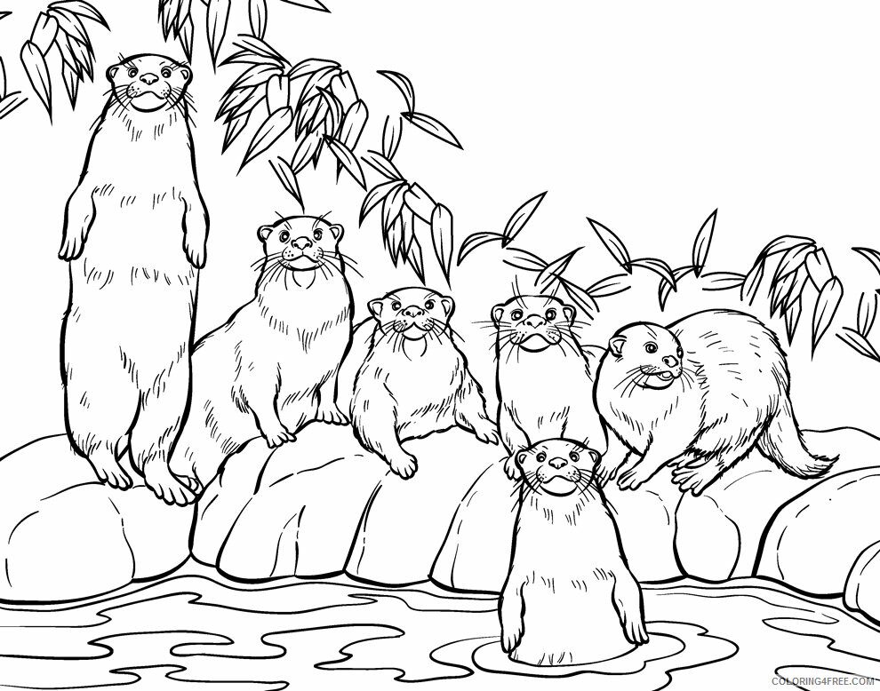 Otter Coloring Sheets Animal Coloring Pages Printable 2021 3001 Coloring4free