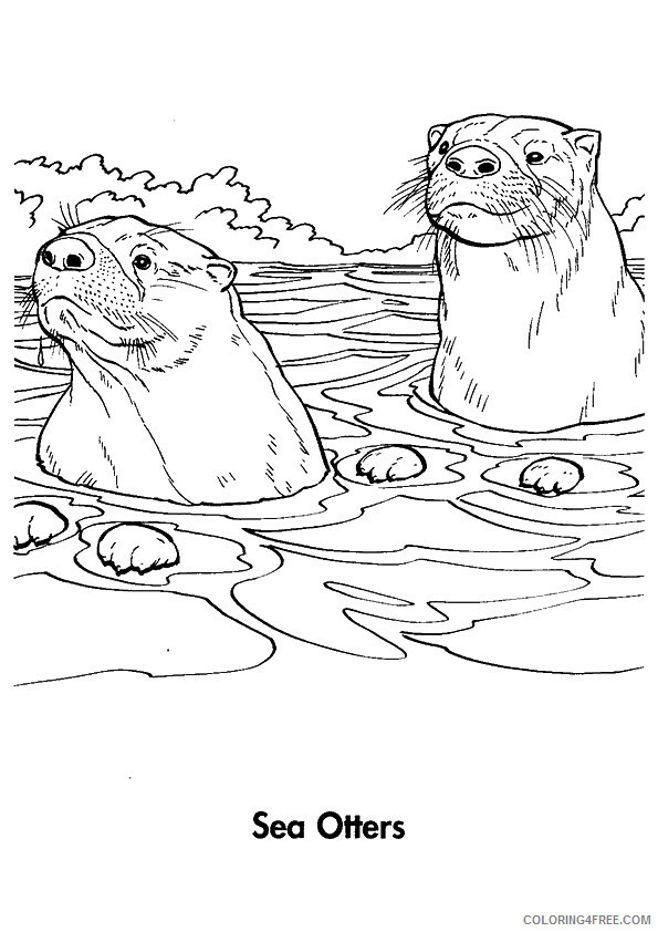 Otter Coloring Sheets Animal Coloring Pages Printable 2021 3003 Coloring4free