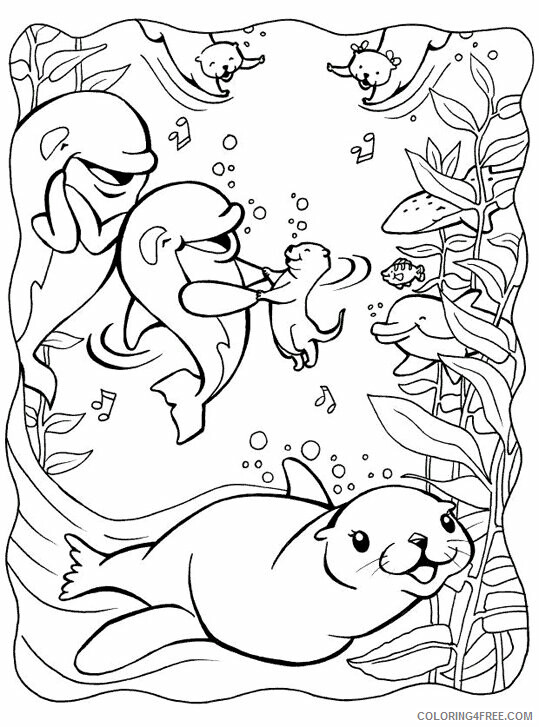 Otter Coloring Sheets Animal Coloring Pages Printable 2021 3009 Coloring4free