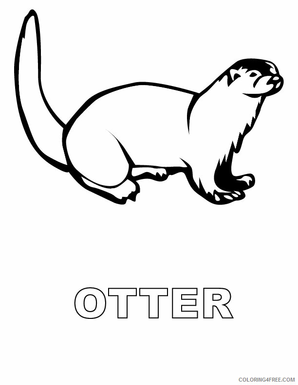 Otter Coloring Sheets Animal Coloring Pages Printable 2021 3015 Coloring4free