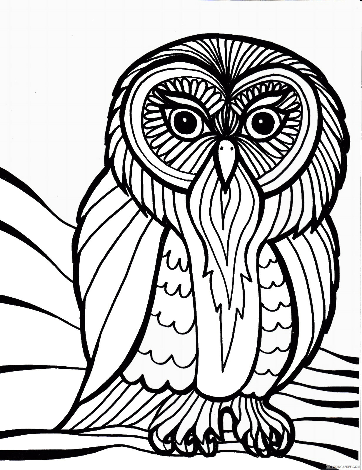 Owl Coloring Pages Animal Printable Sheets Owl_cl_03 2021 3634 Coloring4free