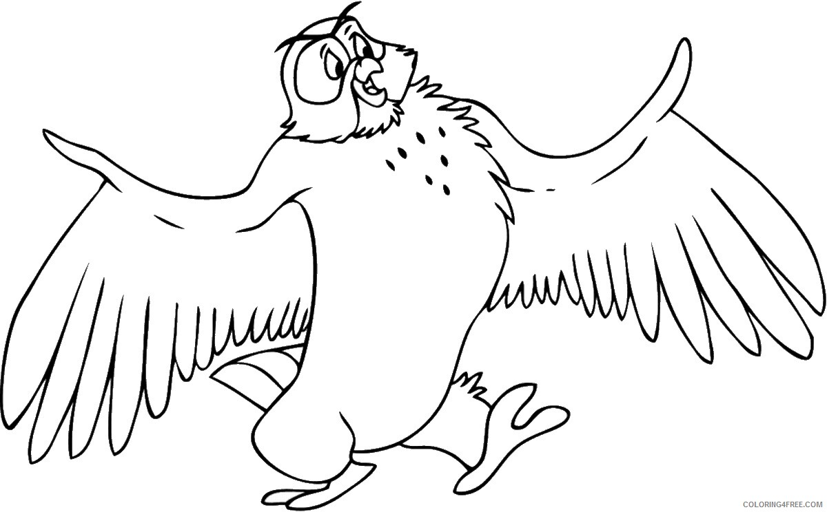 Owl Coloring Pages Animal Printable Sheets Owl_cl_06 2021 3635 Coloring4free