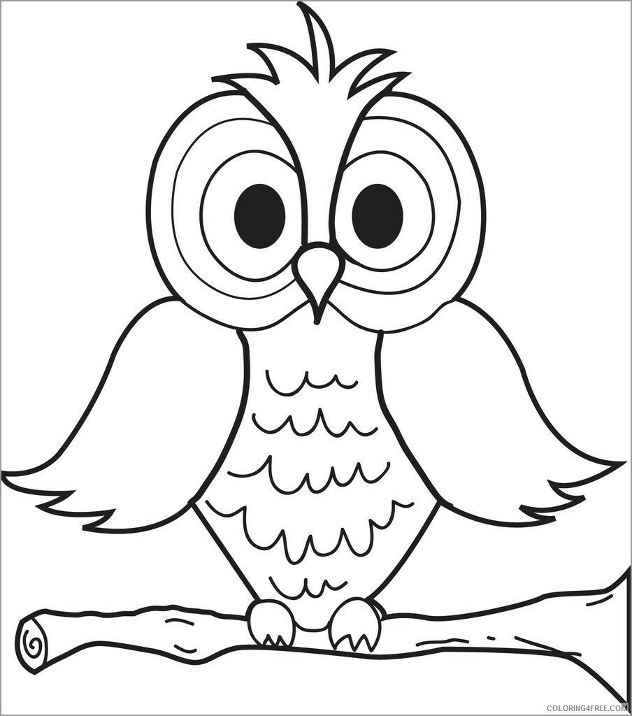 Owl Coloring Pages Animal Printable Sheets cute owl for kids 2021 3620 Coloring4free