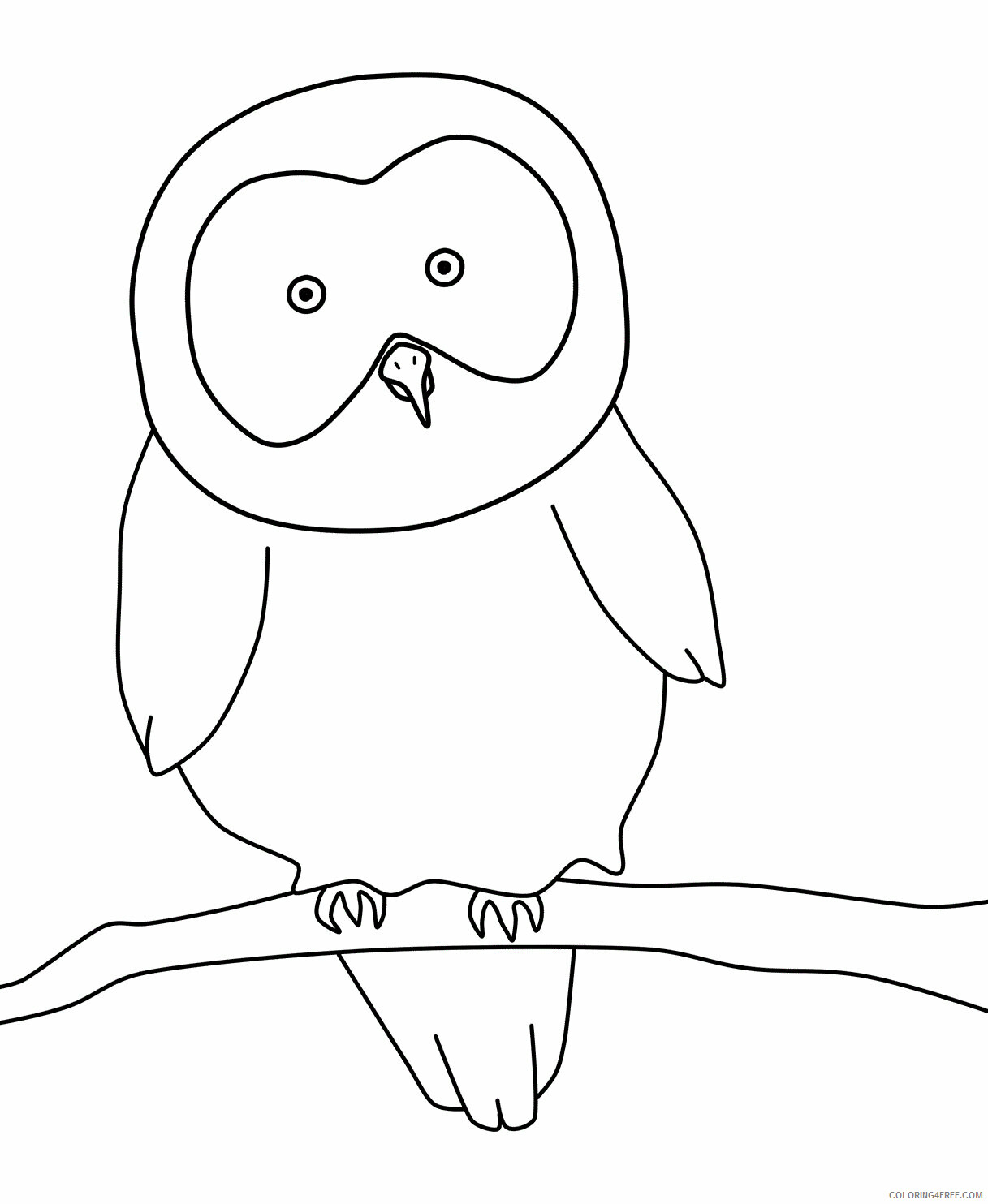 Owl Coloring Pages Animal Printable Sheets of Owls 2021 3615 Coloring4free