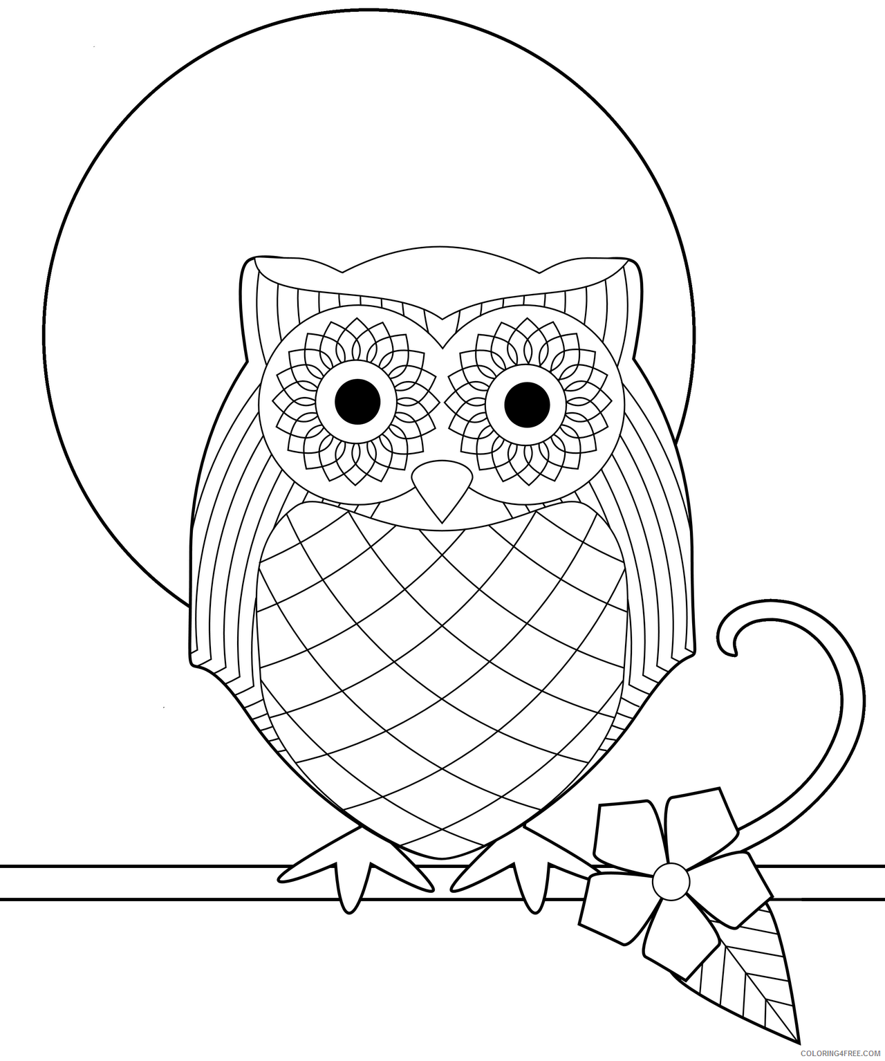 Owl Coloring Sheets Animal Coloring Pages Printable 2021 3020 Coloring4free