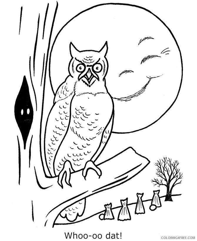 Owl Coloring Sheets Animal Coloring Pages Printable 2021 3055 Coloring4free