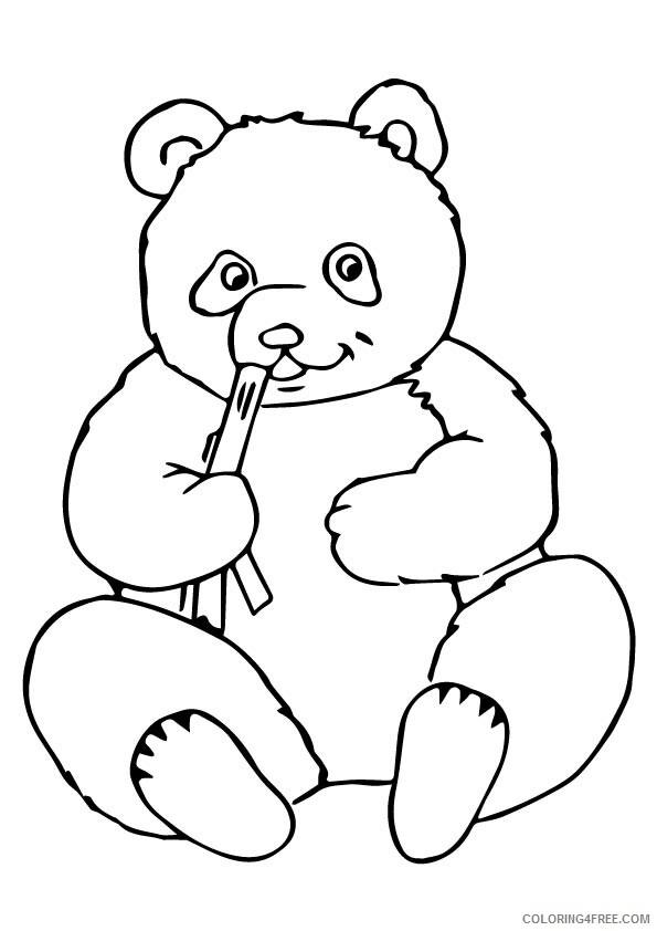 Panda Coloring Sheets Animal Coloring Pages Printable 2021 3092 Coloring4free