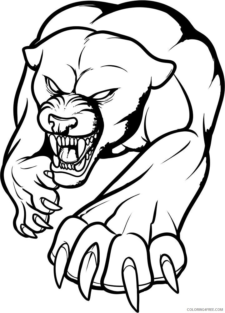 Panther Coloring Pages Animal Printable Sheets how to draw a panther tattoo 2021 Coloring4free