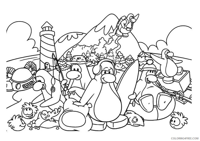 Penguin Animal Coloring Pages Printable 2021 3219 Coloring4free