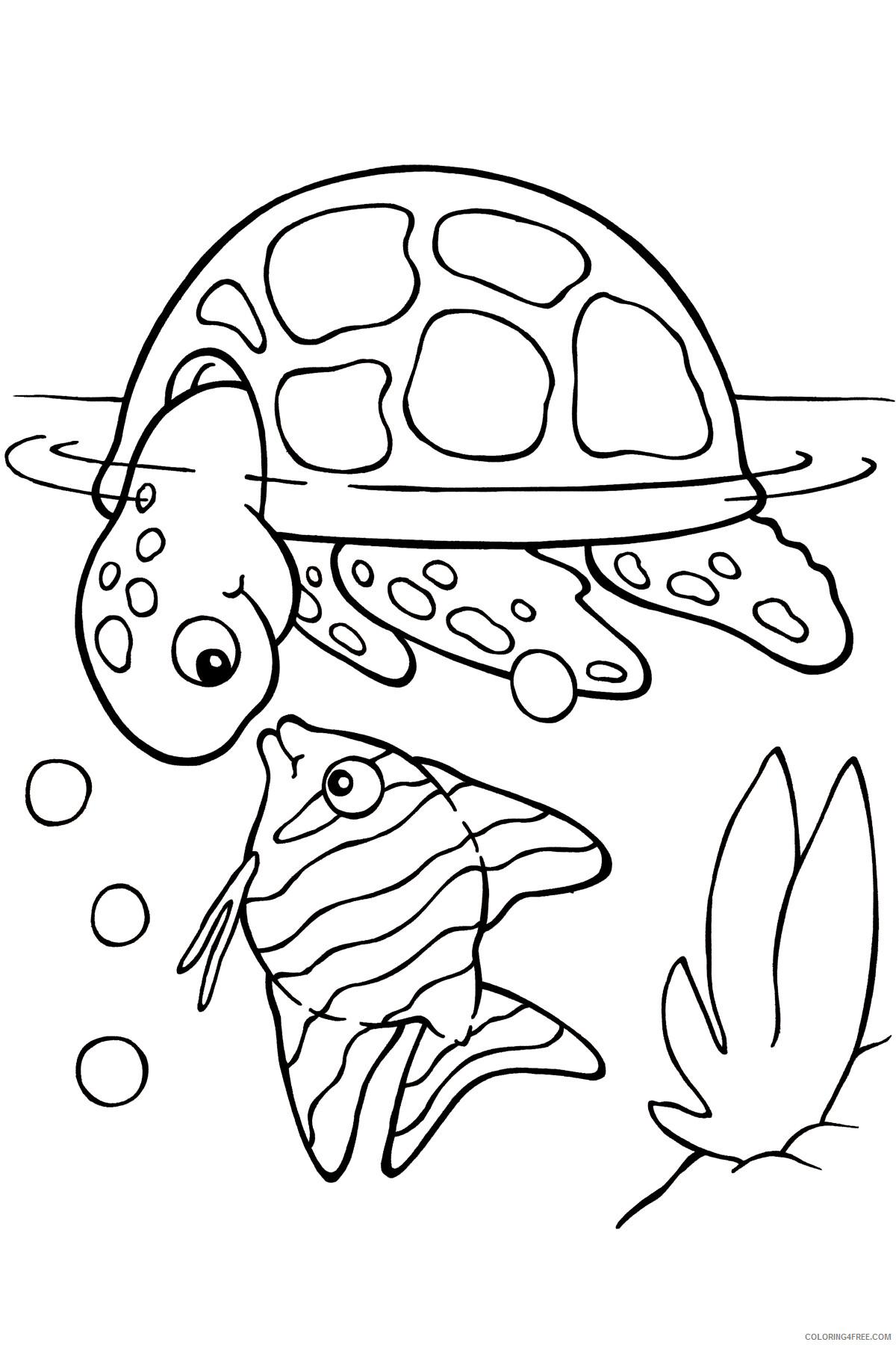 Sea Turtle Coloring Pages Animal Printable Sheets Sea Turtles ...