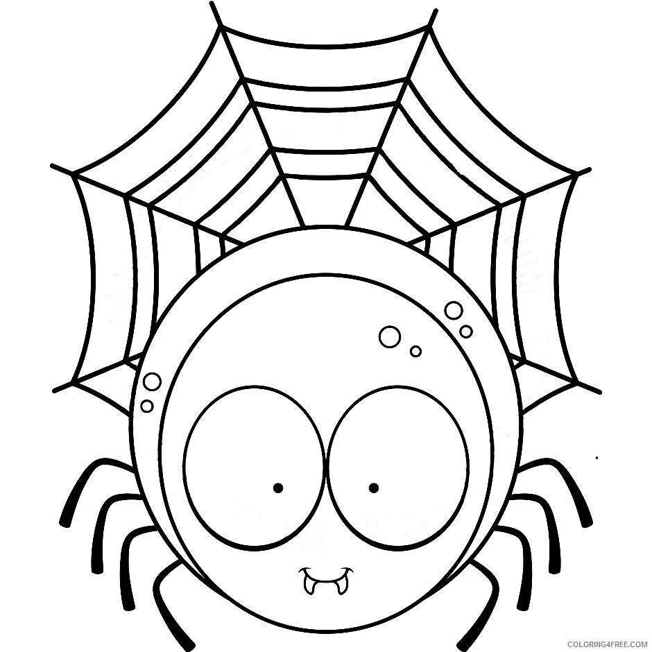 Spider Coloring Pages Animal Printable Sheets Spider 2021 4638 Coloring4free