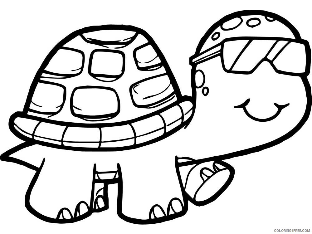 Tortoise Coloring Pages Animal Printable Sheets Tortoise 6 2021 4811 Coloring4free