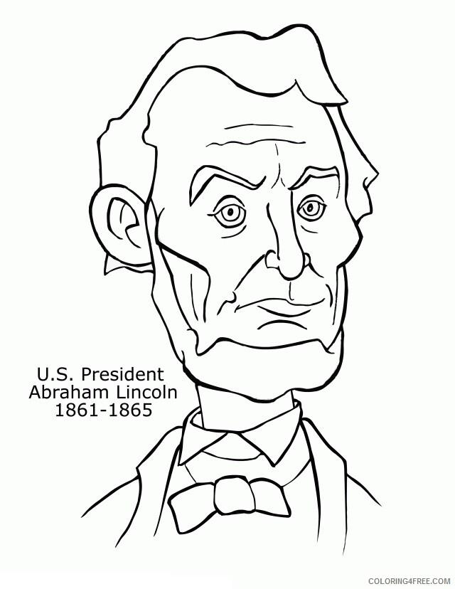 Abraham Lincoln Coloring Page Printable U S President Abraham Lincoln 2021 A 1259 Coloring4free Coloring4free Com