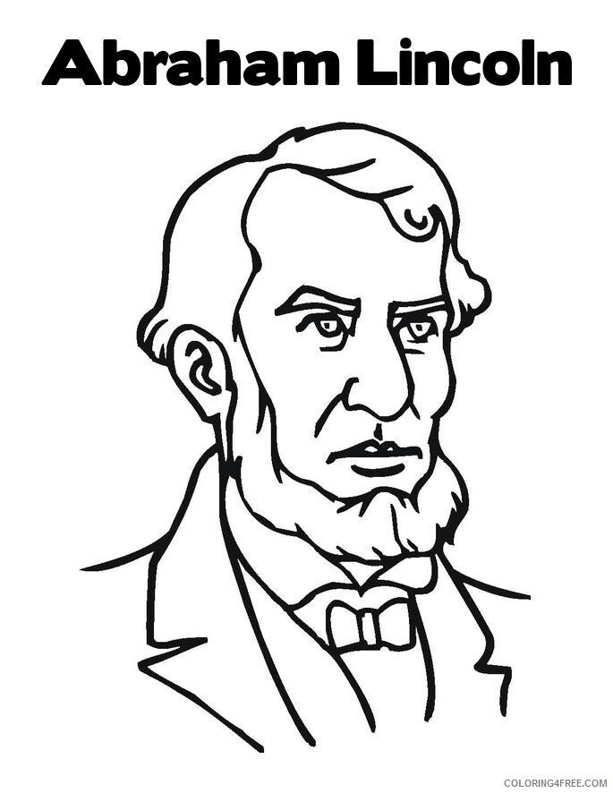 Abraham Lincoln Coloring Pages Printable Printable Sheets Abraham Lincoln Jpg 2021 A 1272 Coloring4free Coloring4free Com