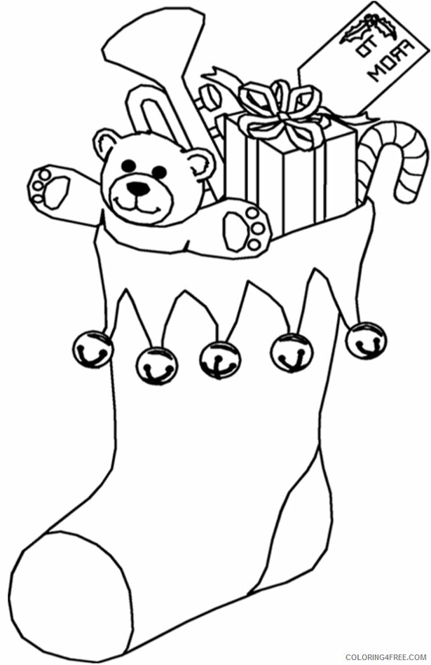 AZ Coloring Pages Christmas Printable Sheets Christmas Stocking Full of Presents 2021 a Coloring4free