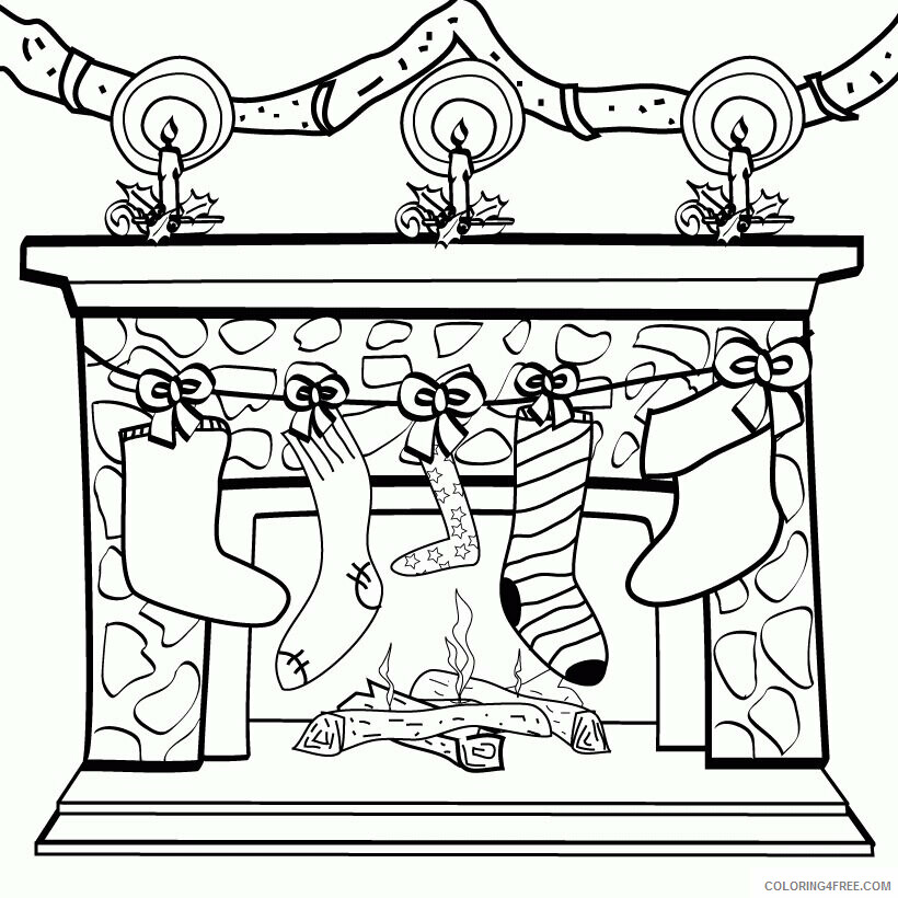 AZ Coloring Pages Christmas Printable Sheets Christmas Stockings and Decoration 2021 a Coloring4free