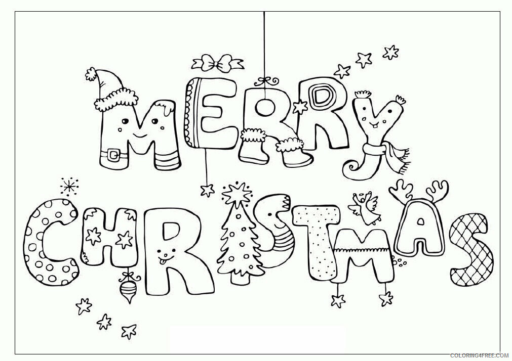 AZ Coloring Pages Christmas Printable Sheets Competence Christmas Printable 2021 a 4434 Coloring4free