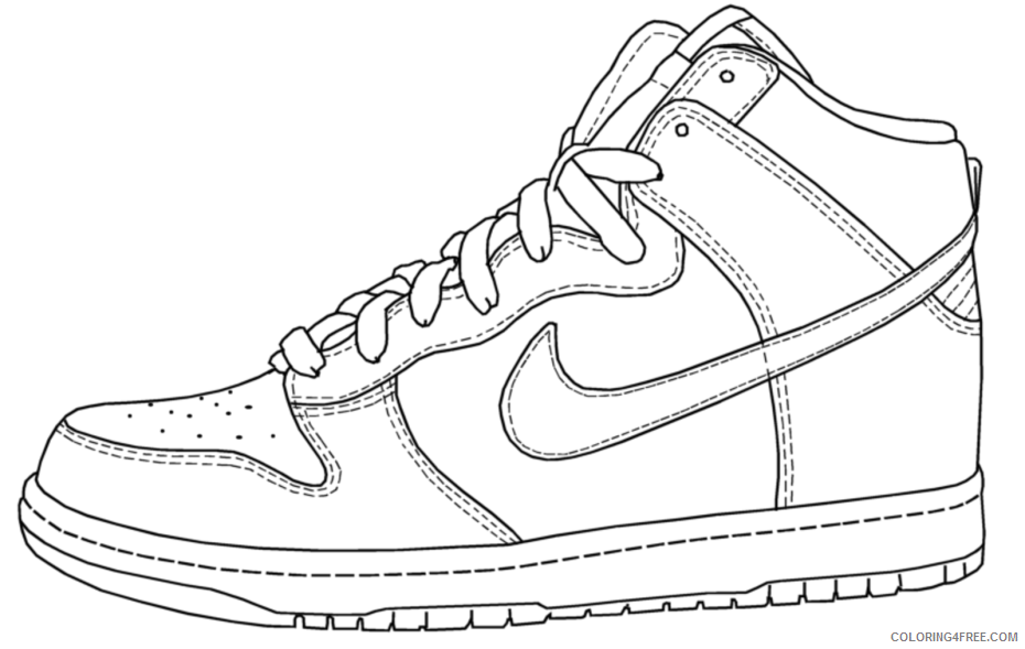 Air Jordan Coloring Pages Printable Sheets For Shoes In 2021 A 2868  Coloring4free - Coloring4Free.com