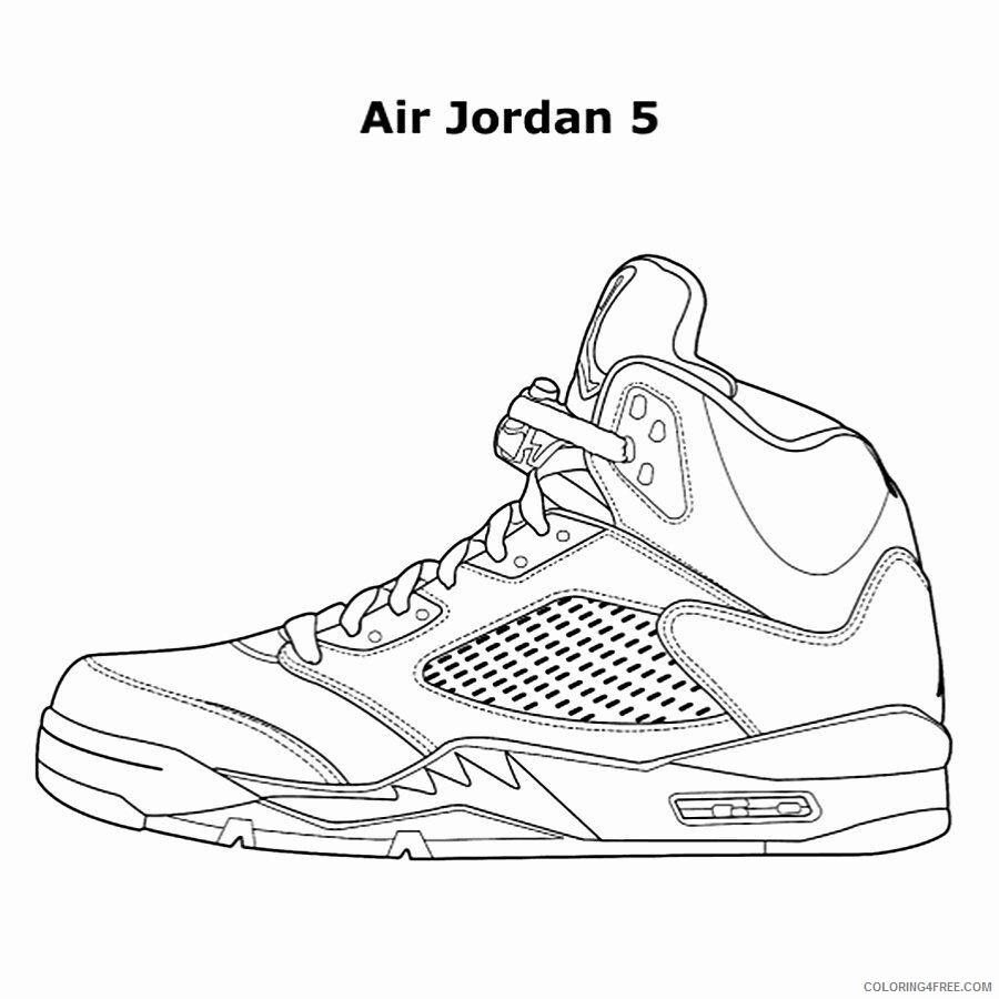 Air Nike Air Coloring Sheets Printable Sheets Jordan Shoe Book Luxury 2021 A 2905 Coloring4free Coloring4free Com
