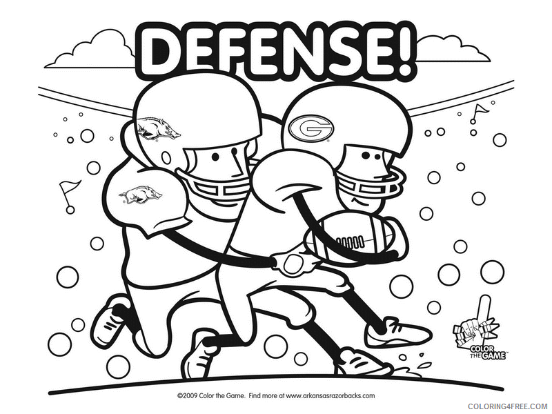Alabama Football Coloring Pages Printable Sheets Football Pages 2021 A 3204  Coloring4free - Coloring4Free.com
