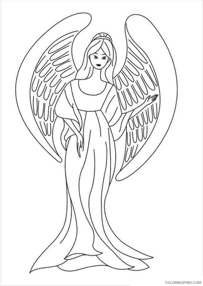 Az Coloring Pages Angel Printable Sheets Angel Sheets 2021 a 4407 Coloring4free