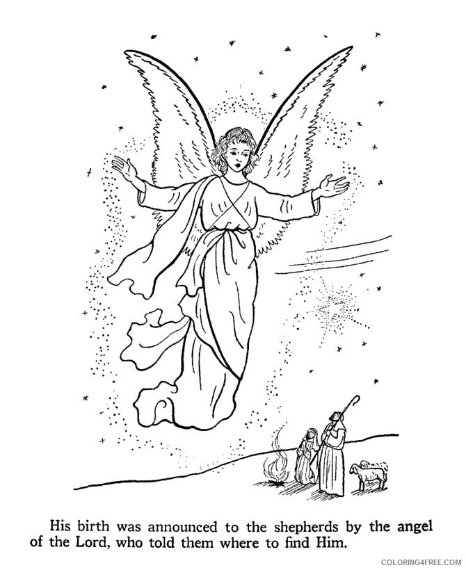 Az Coloring Pages Angel Printable Sheets Angel to print 2021 a 4399 Coloring4free
