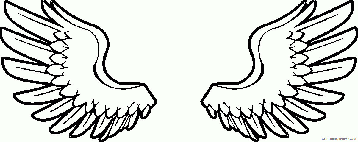 Az Coloring Pages Angel Printable Sheets Papers Angel Wings Pages 2021 a 4414 Coloring4free