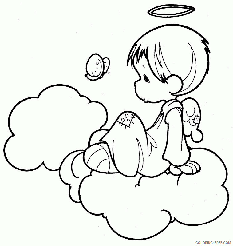 Az Coloring Pages Angel Printable Sheets Personalized Precious Moments Angel 2021 a 4416 Coloring4free
