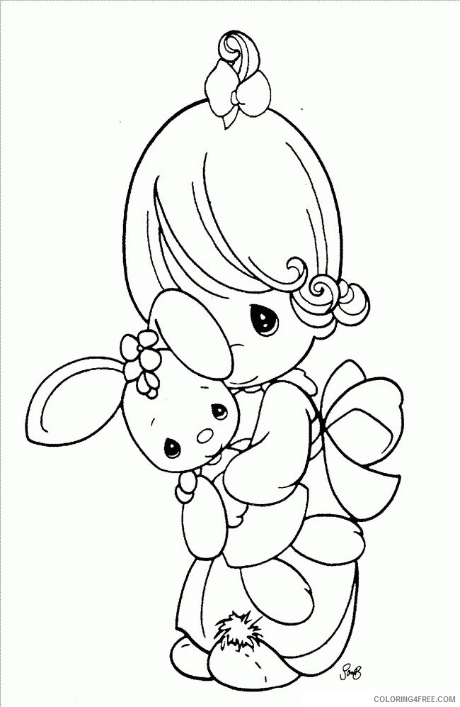 Az Coloring Pages Angel Printable Sheets Studying Precious Moments Pages 2021 a 4422 Coloring4free