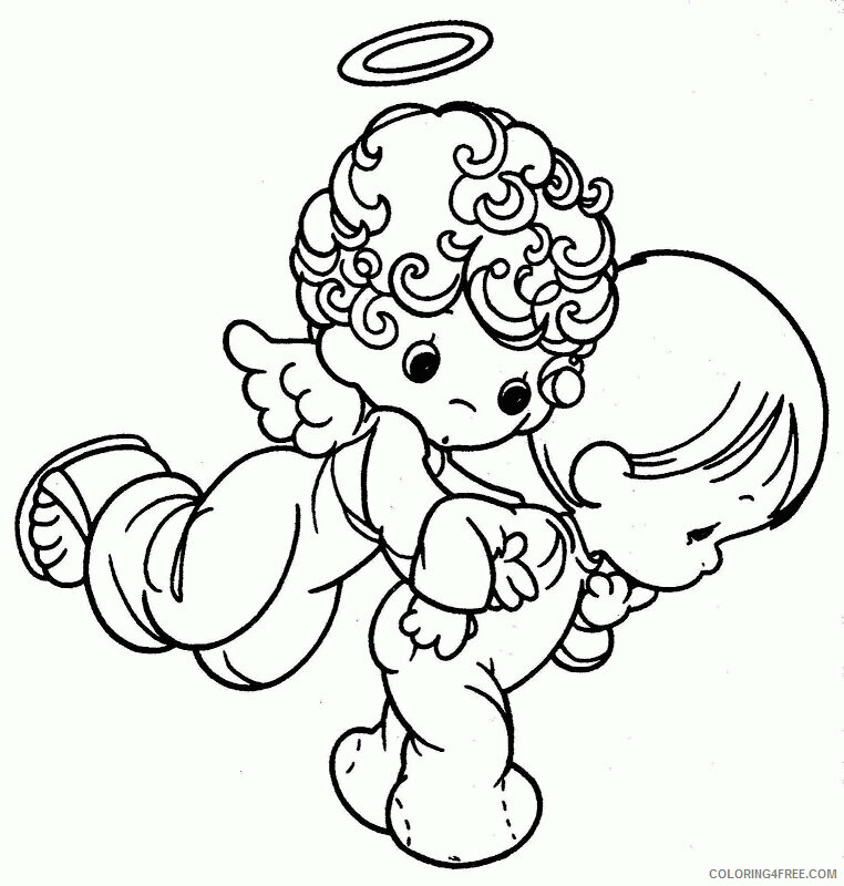 Az Coloring Pages Angel Printable Sheets Studying Precious Moments Pages 2021 a 4423 Coloring4free