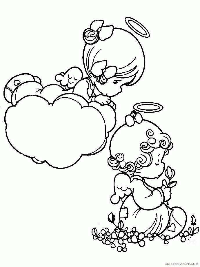 Az Coloring Pages Angel Printable Sheets Studying Precious Moments Pages 2021 a 4424 Coloring4free