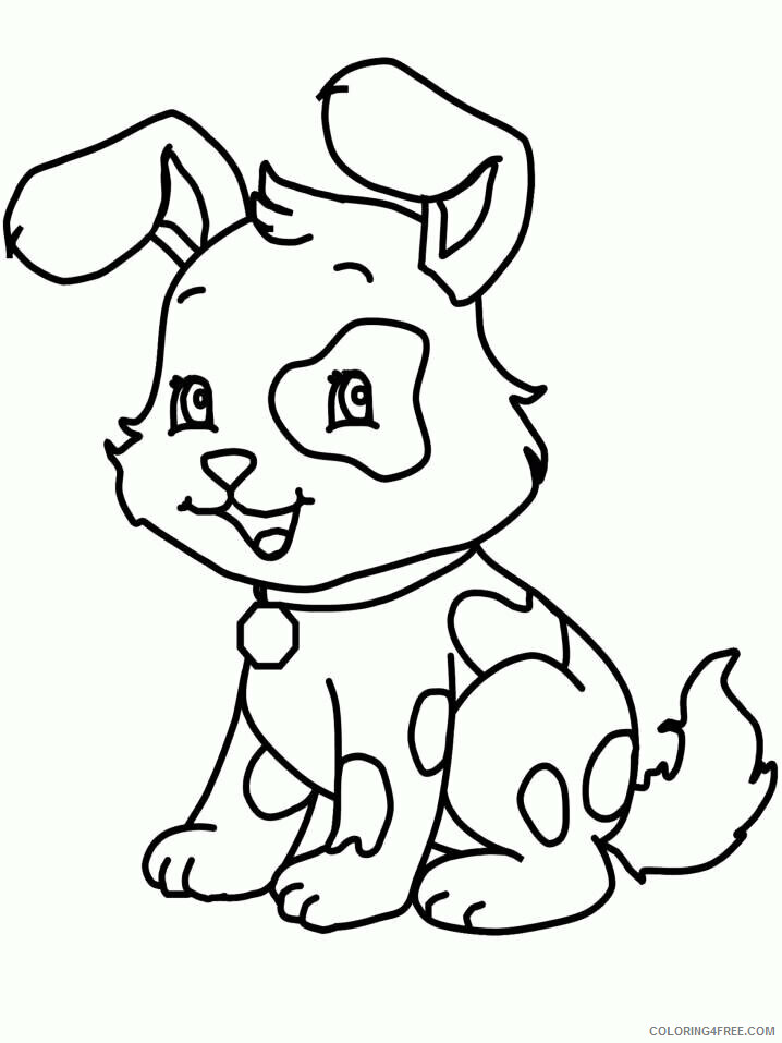 Az Coloring Pages of Animals Printable Sheets Cute Puppy Nucoloring 2021 a 4447 Coloring4free