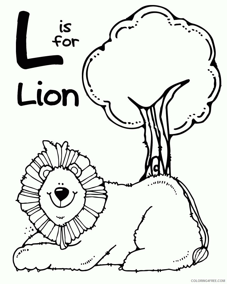 Az Coloring Pages of Animals Printable Sheets Zoo Animal Lion Pages 2021 a 4461 Coloring4free
