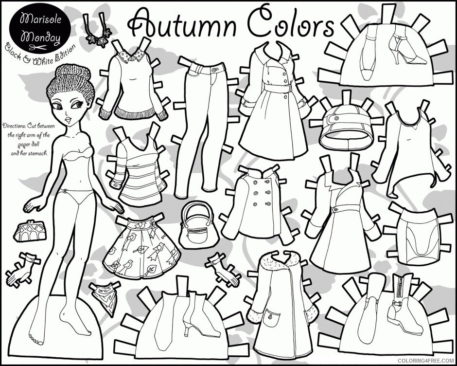 Az Coloring Pages of Dolls for Kids Printable Definition Fashion Paper Dolls 2021 a 4472 Coloring4free