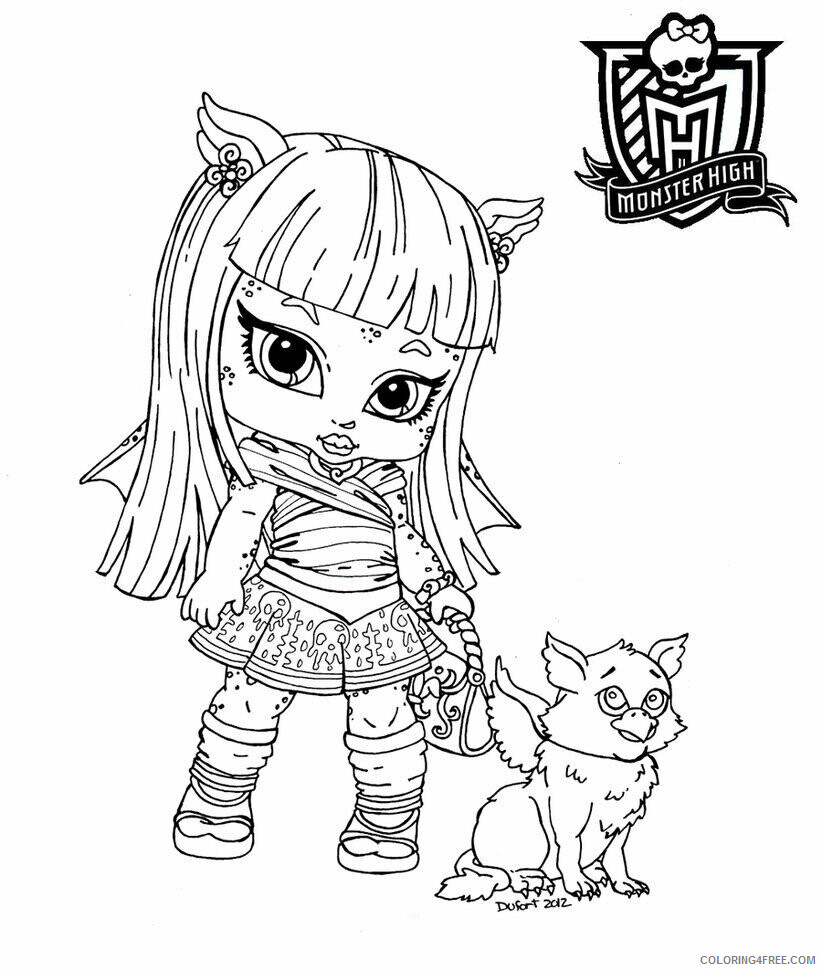Az Coloring Pages of Dolls for Kids Printable Sheets Baby Monster High Pages 2021 a 4468 Coloring4free