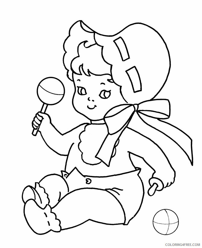 Az Coloring Pages of Dolls for Kids Printable Sheets Baby for Kids 2021 a 4464 Coloring4free
