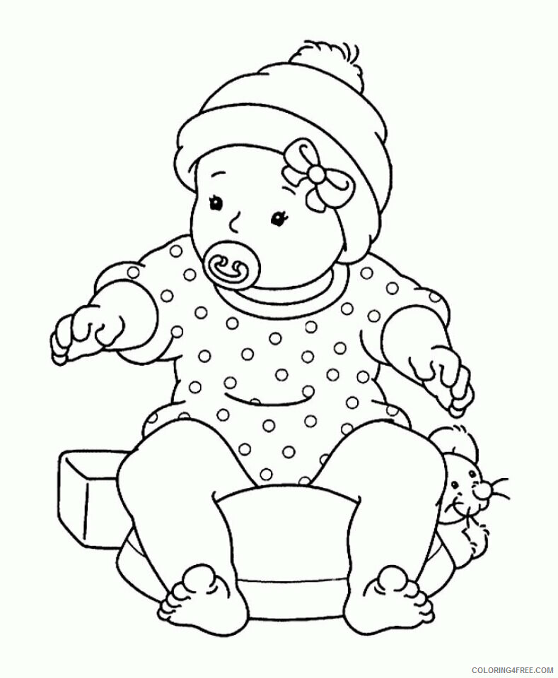 Az Coloring Pages of Dolls for Kids Printable Sheets Free Ba Shower 2021 a 4474 Coloring4free