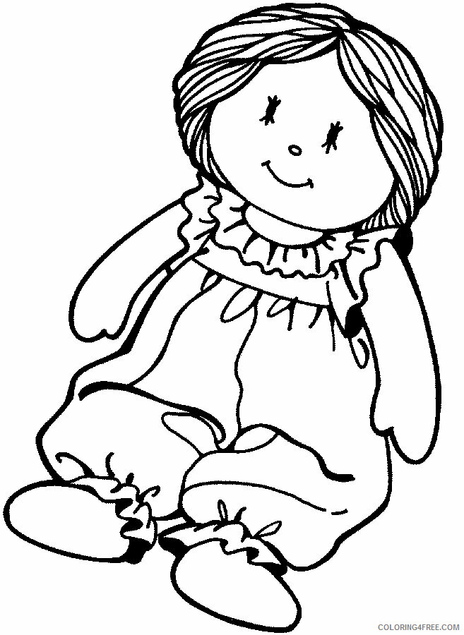 Az Coloring Pages of Dolls for Kids Printable Sheets Free Paper Doll 2021 a 4475 Coloring4free