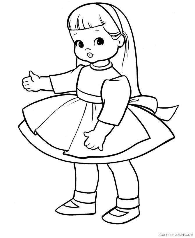 Az Coloring Pages of Dolls for Kids Printable Sheets Of Dolls for 2021 a 4480 Coloring4free