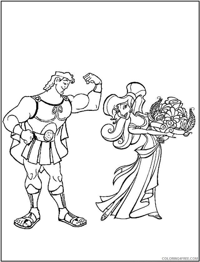 Az Coloring Pages of Hercules Printable Sheets Disney Hercules 22 2021 a 4485 Coloring4free