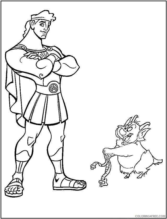 Az Coloring Pages of Hercules Printable Sheets Disney Hercules 29 2021 a 4486 Coloring4free