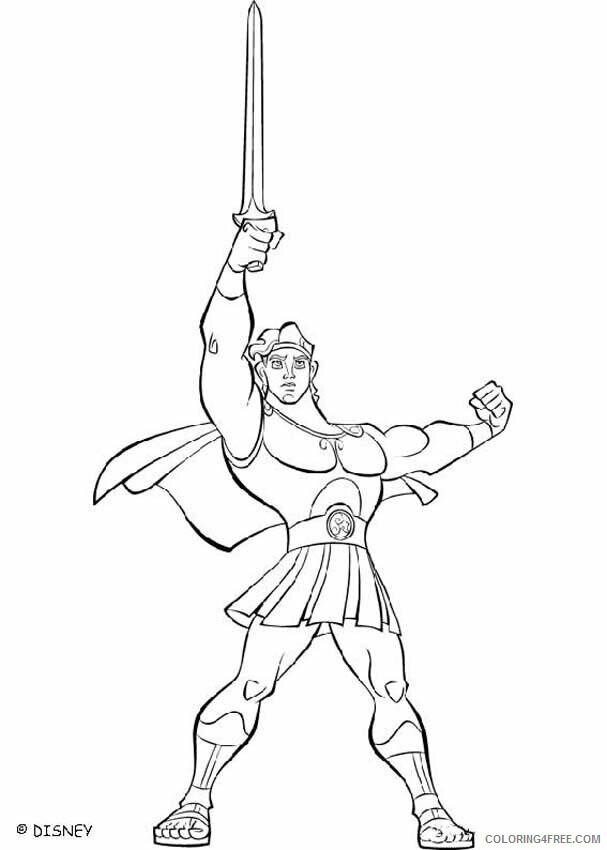 Az Coloring Pages of Hercules Printable Sheets Disney Hercules Disney 2021 a 4487 Coloring4free