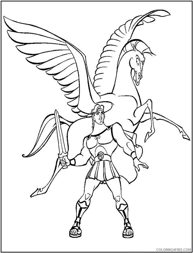 Az Coloring Pages of Hercules Printable Sheets Disney Hercules Disney 2021 a 4488 Coloring4free