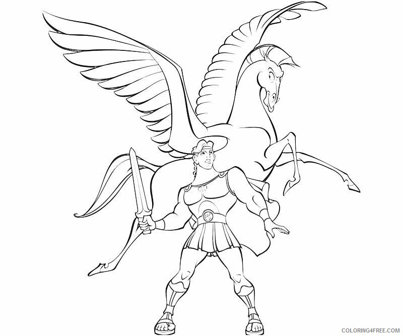 Az Coloring Pages of Hercules Printable Sheets Pegasus Page Free Coloring 2021 a 4495 Coloring4free